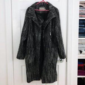 Nordic Designer Long Wool Blend Textured Coat